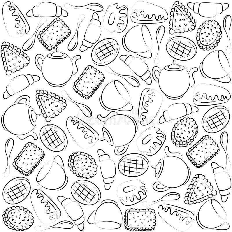 Чайная партия Текстура бесплатная иллюстрация