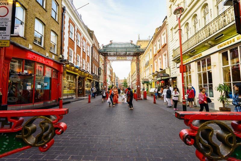 Чайна-таун в Лондоне Англии стоковое фото