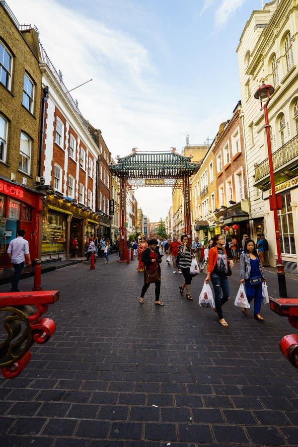 Чайна-таун в Лондоне Англии стоковое фото rf