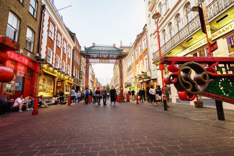 Чайна-таун в Лондоне Англии стоковые изображения rf