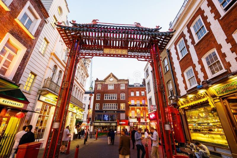 Чайна-таун в Лондоне Англии стоковая фотография rf