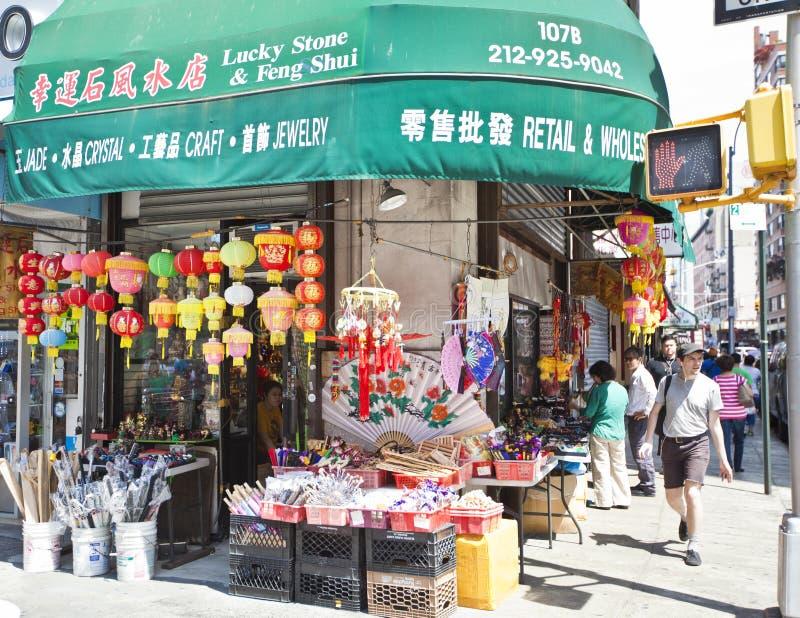 Чайна-таун в Нью-Йорке стоковые изображения