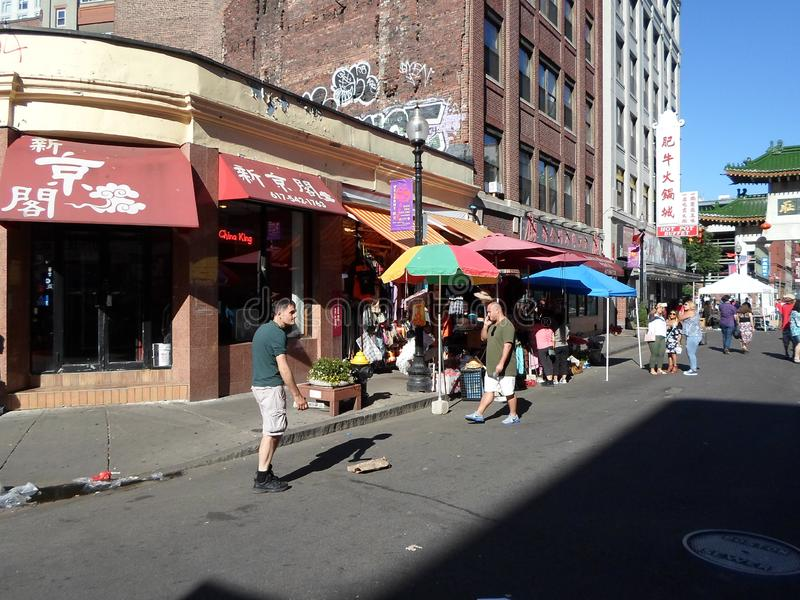 Чайна-таун городского Бостон, Бостон, Массачусетс, США стоковая фотография