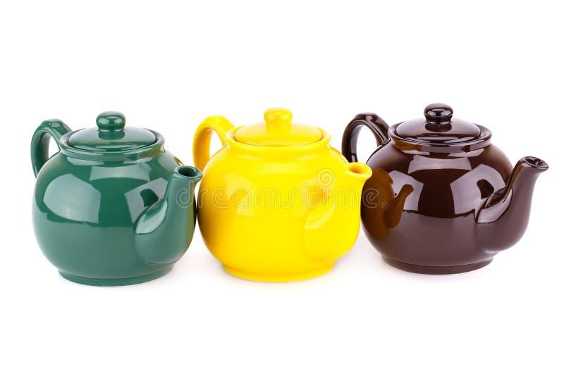 чайники стоковая фотография