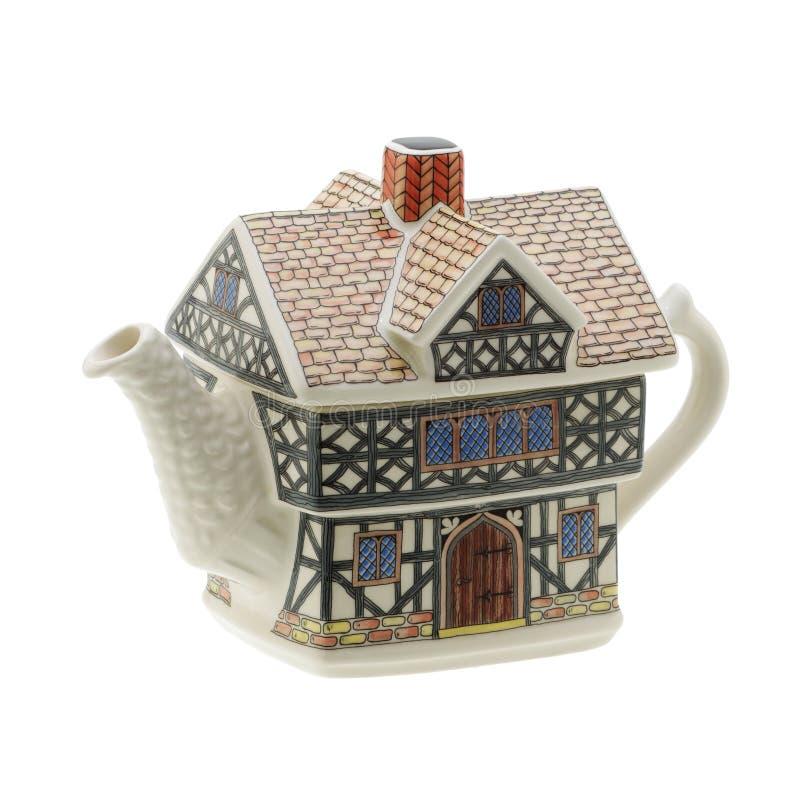 Чайник дома форменный на белой предпосылке с путем клиппирования стоковая фотография rf