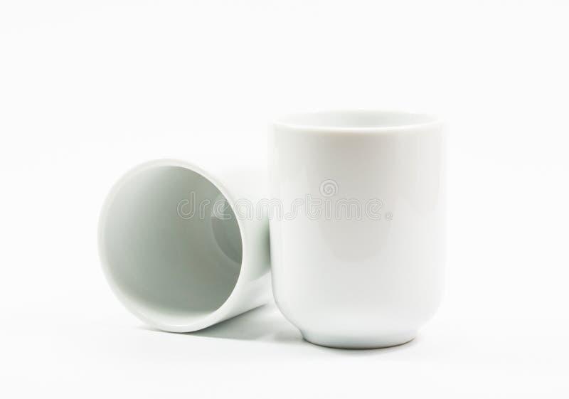 Чайник и стекло изоляции стоковая фотография