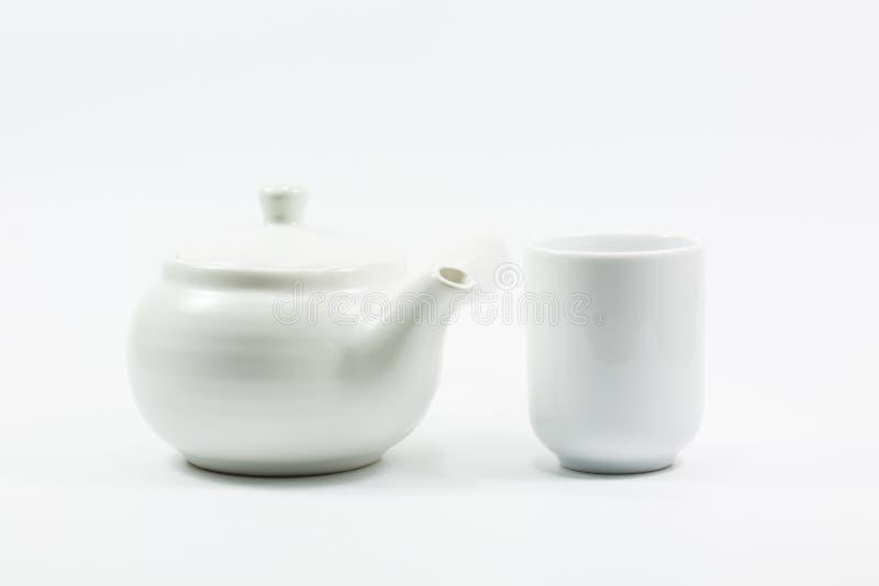 Чайник и стекло изоляции стоковое фото rf