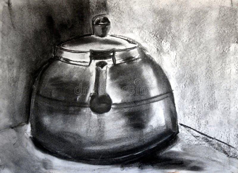 чайник угля стоковое изображение