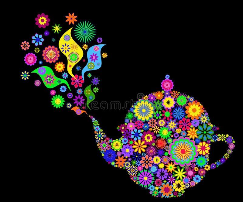 чайник цветка иллюстрация вектора