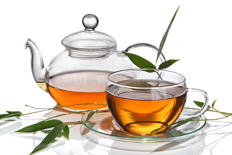чайник чая чашки стоковые фото