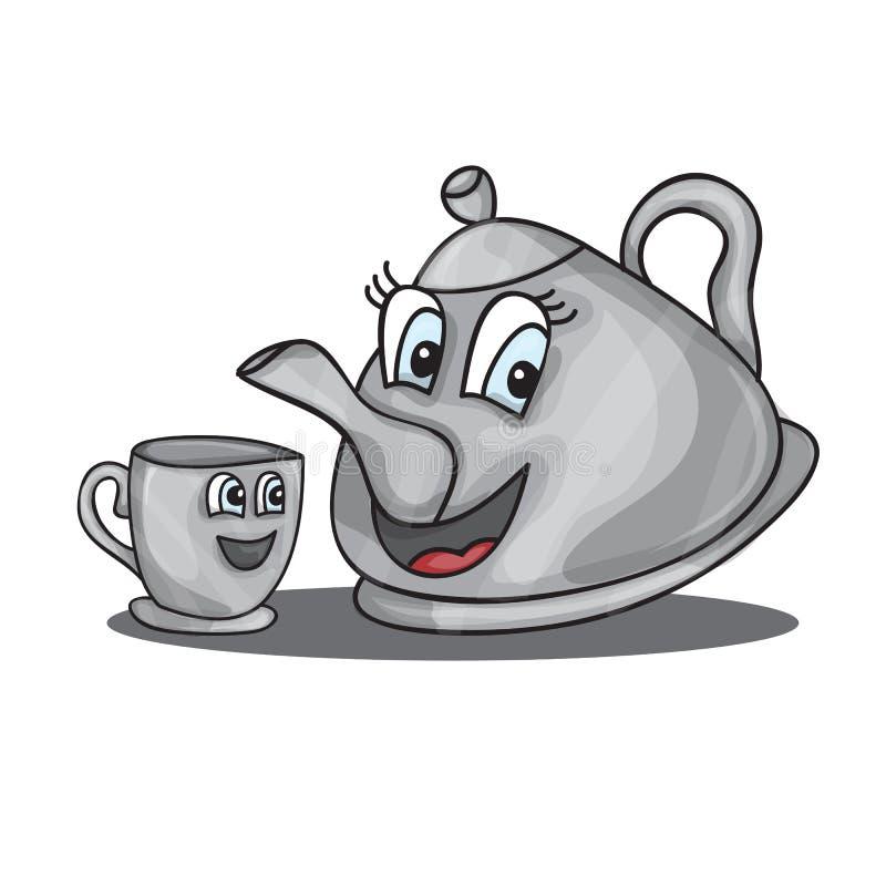 веселый чайник рисунок аптечной ромашки медицине