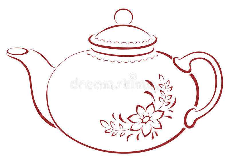 чайник pictogram иллюстрация штока