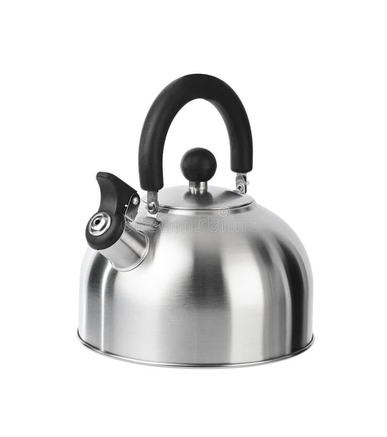Чайник Stovetop свистя стоковое фото rf