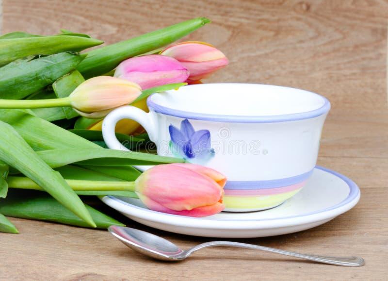 Чай весеннего времени стоковое фото