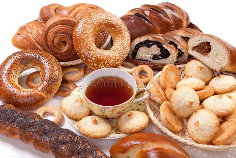 чай выпечки стоковое изображение