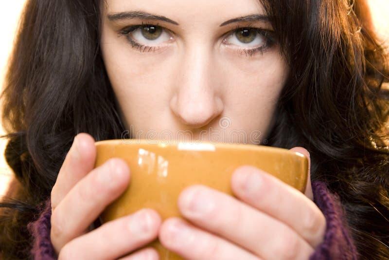 чай девушки стоковое фото rf