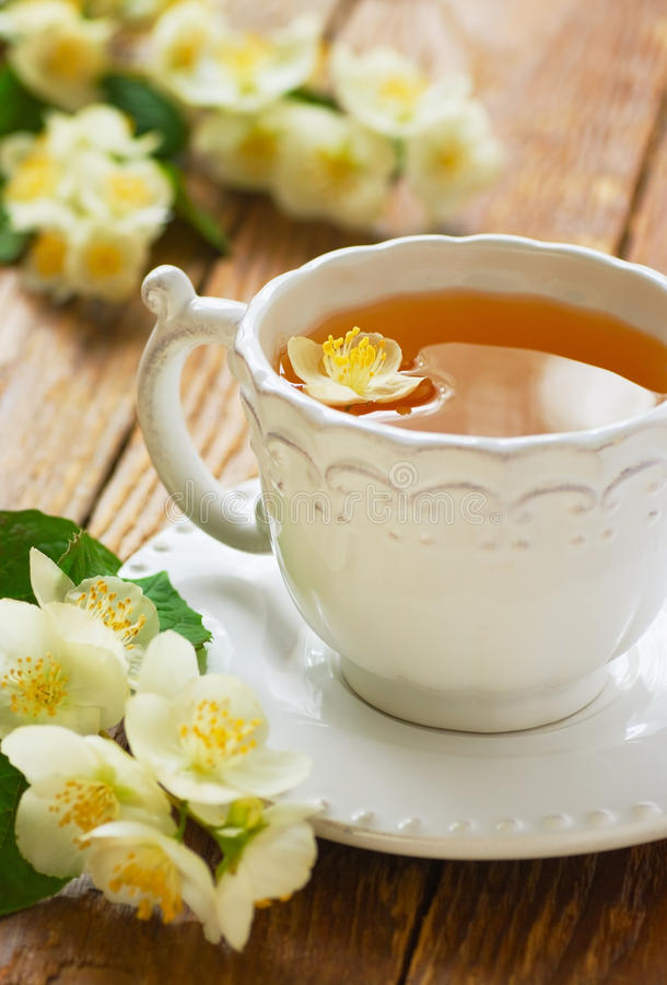 Чай жасмина стоковое фото