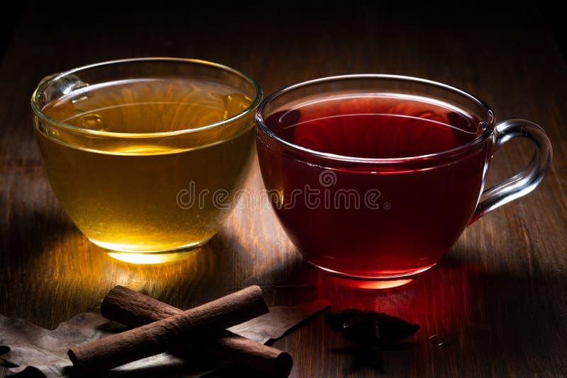 Чай зеленого конца красный стоковая фотография rf