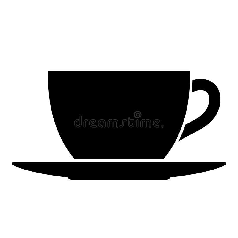 Чай или кофейная чашка и поддонник бесплатная иллюстрация