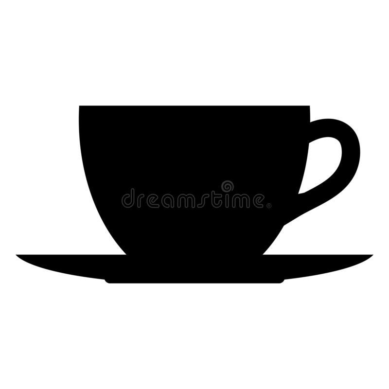 Чай или кофейная чашка и поддонник иллюстрация штока