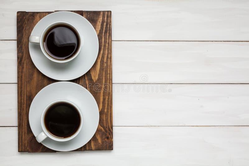 Чай или кофе 2 чашек стоковая фотография