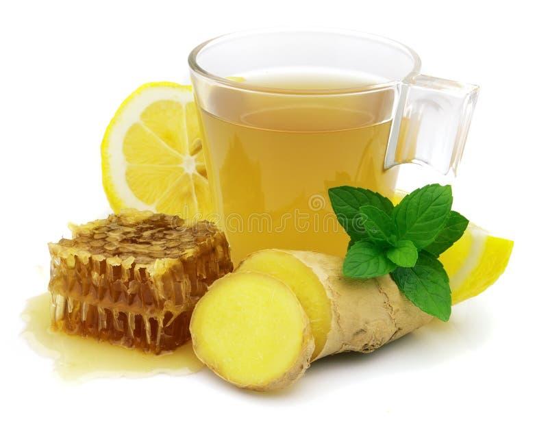 чай имбиря горячий стоковое изображение