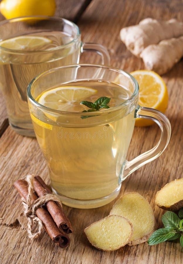 Чай имбиря стоковая фотография
