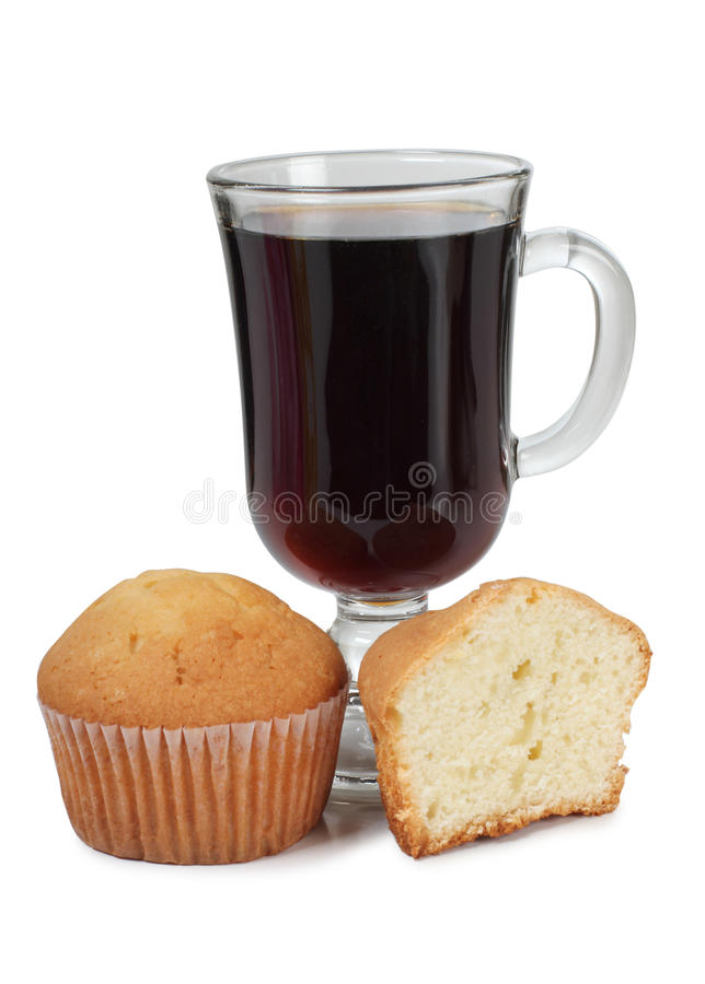 Чай и торт стоковое фото rf