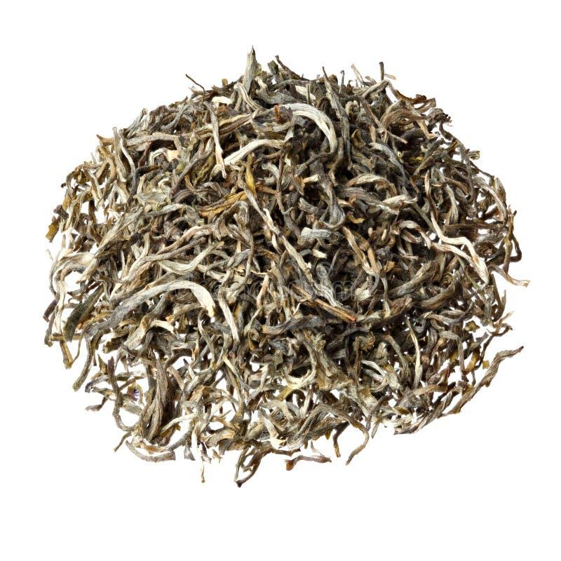 Чай китайца зеленого цвета пика меха горы желтого цвета Huangshan Maofeng известный стоковые фотографии rf