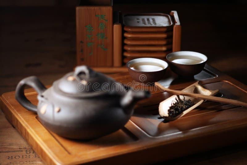 чай китайца установленный стоковая фотография rf