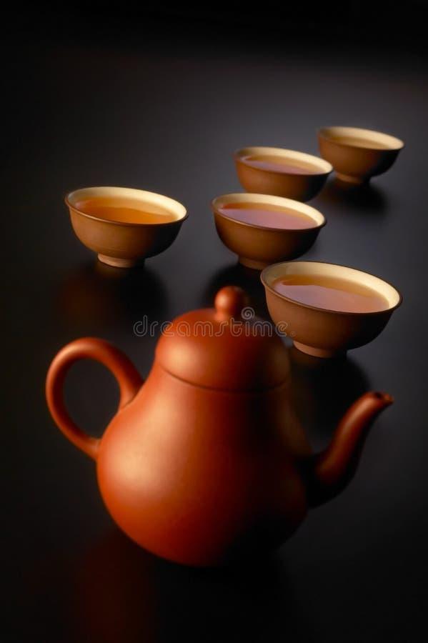 чай китайца установленный стоковые изображения