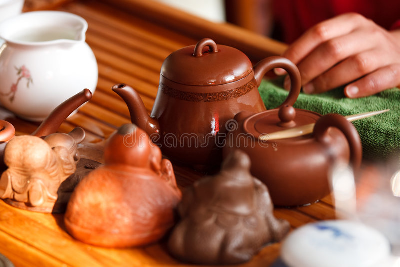 чай китайца церемонии стоковое изображение