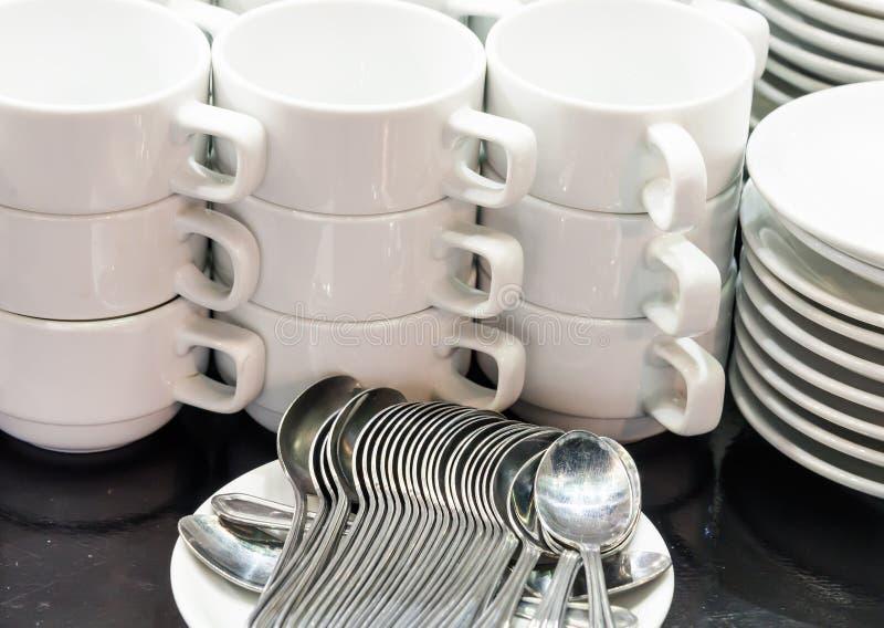 чай комплекта кофе стоковое фото rf
