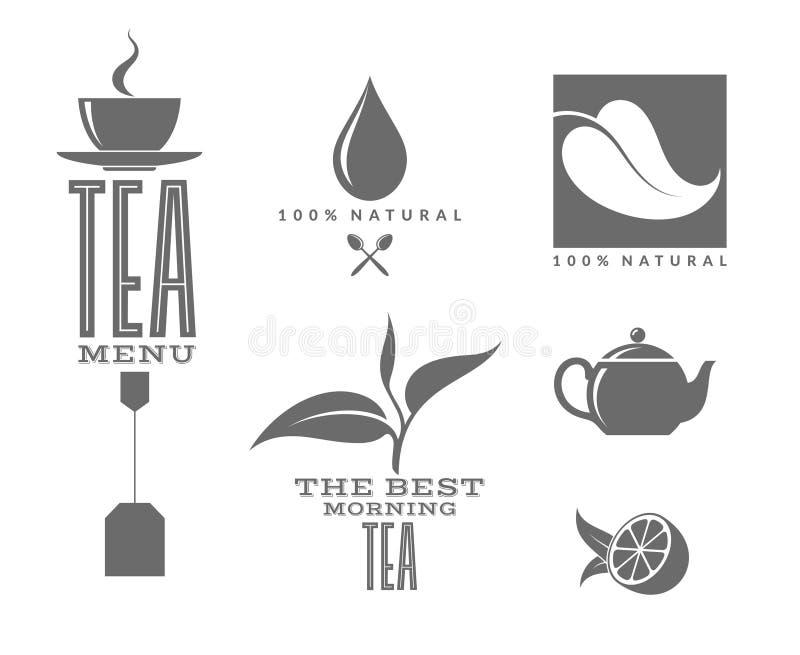 Чай Комплект иллюстрация вектора