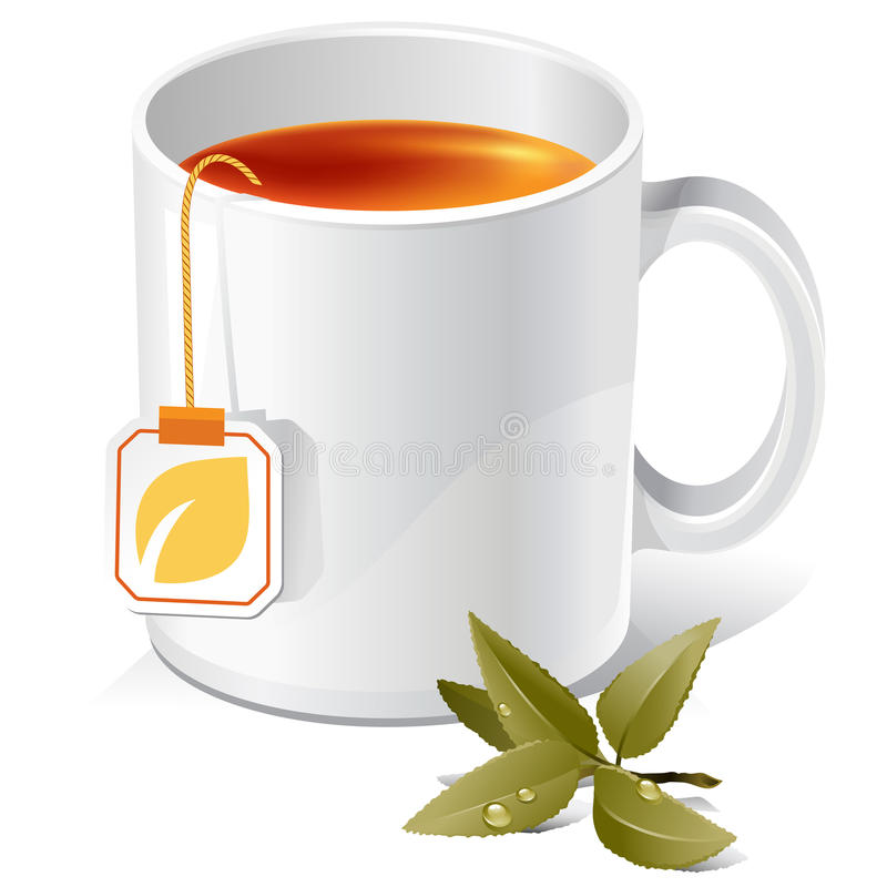 чай кружки иллюстрация вектора