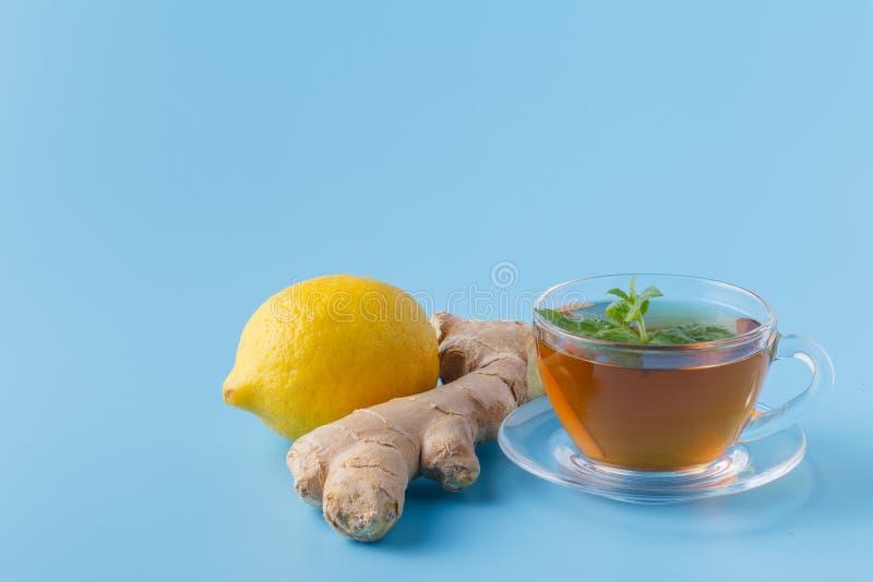 чай лимона меда имбиря стоковые изображения rf