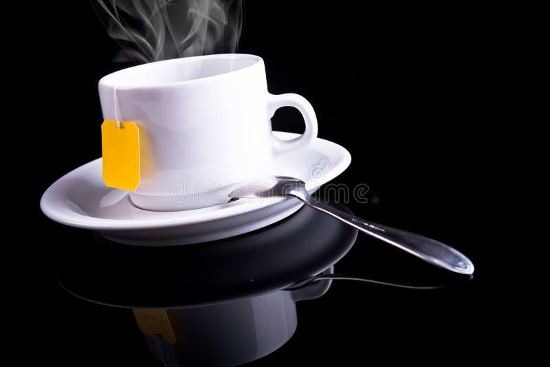 чай ложки чашки Стоковые Фото