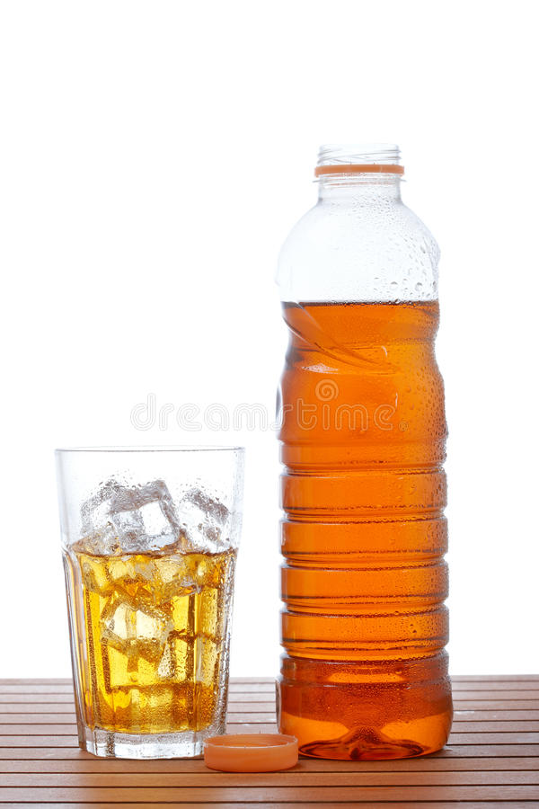 чай льда бутылочного стекла стоковое изображение rf