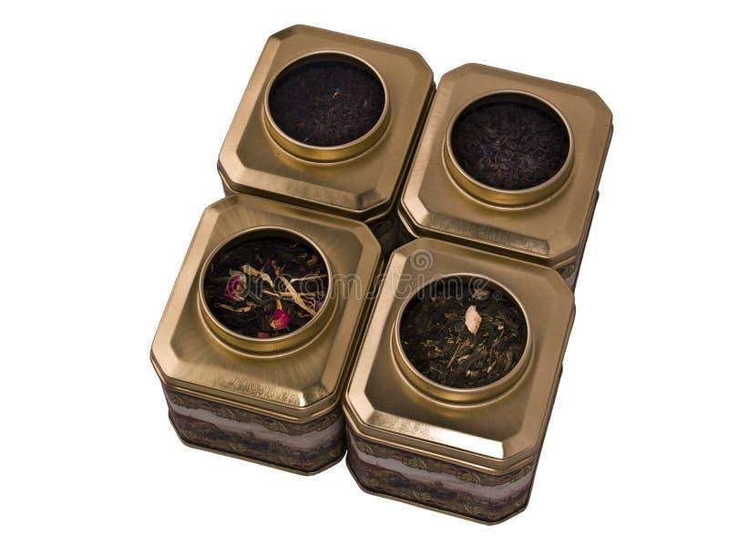 чай металла коробки стоковое фото
