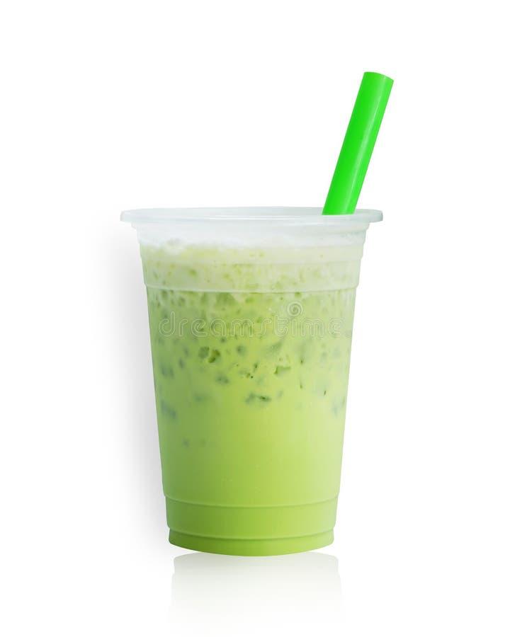 Чай молока льда зеленый стоковые фото