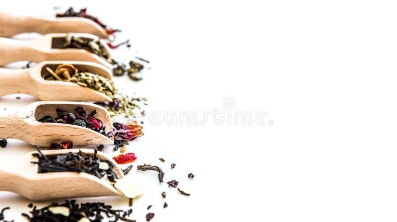 Чай на белой таблице стоковое фото rf