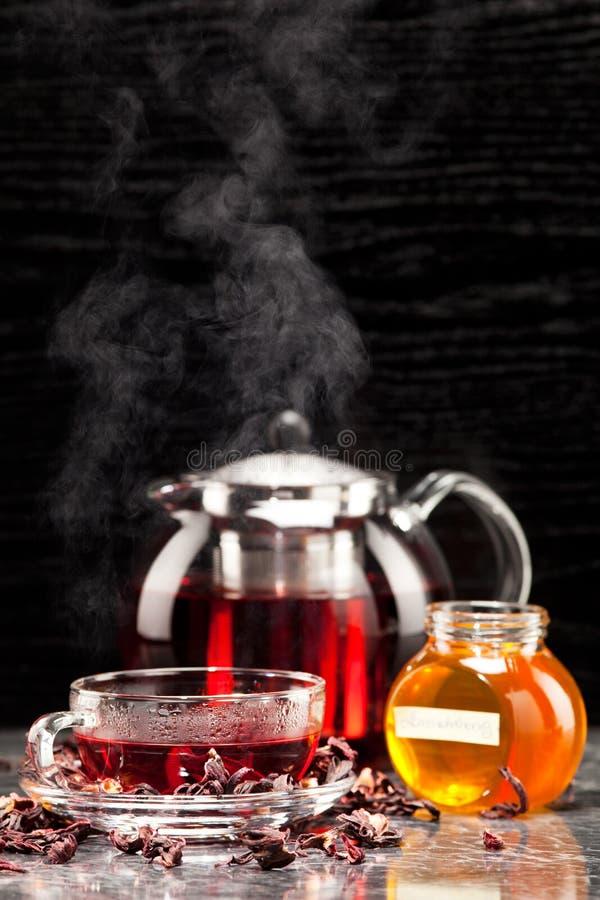 Чай просвирника в стекле стоковая фотография