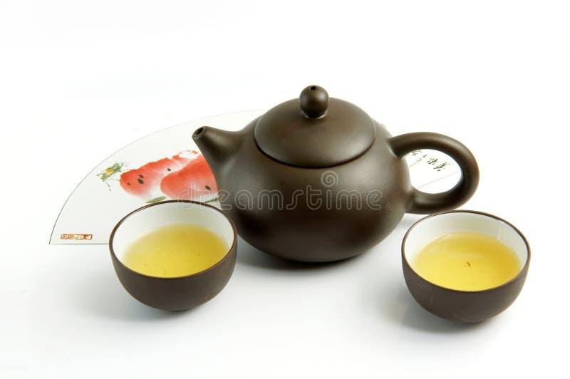 чай пурпурового песка установленный стоковые изображения rf