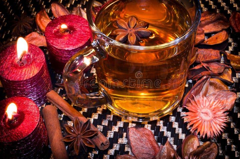 Чай рождества с специями стоковое фото