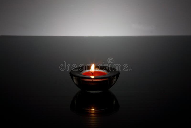 чай света держателя свечки стеклянный стоковые изображения