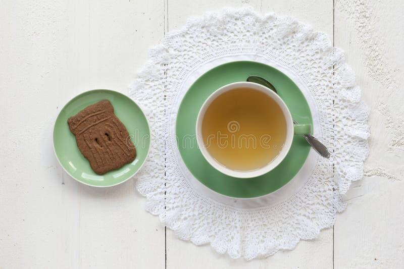 Чай с голландцем Speculaas стоковое изображение rf