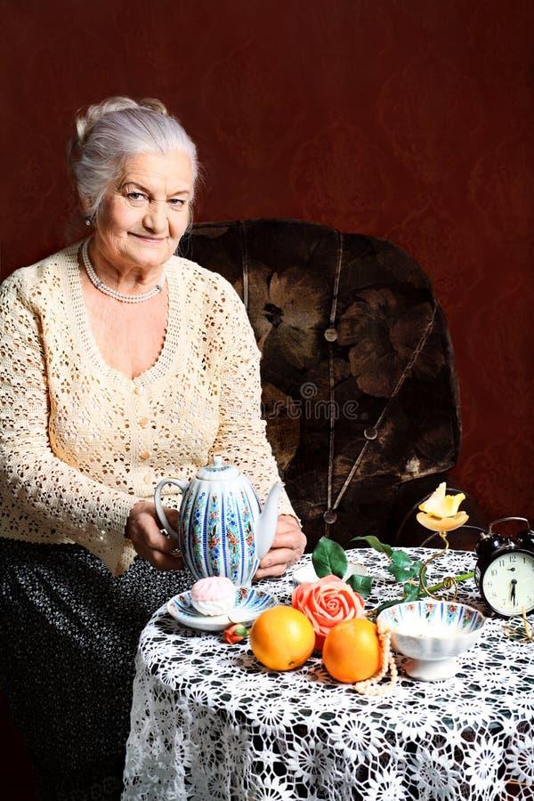 чай таблицы стоковое фото rf