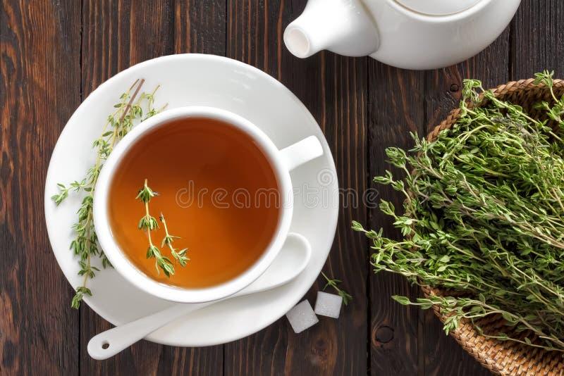 Чай тимиана стоковое фото rf