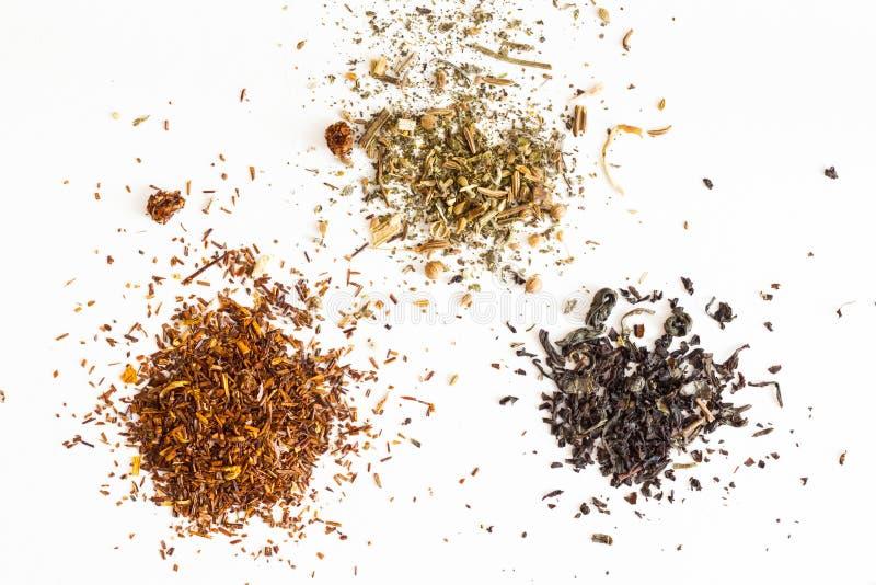чай 3 типа стоковые изображения rf
