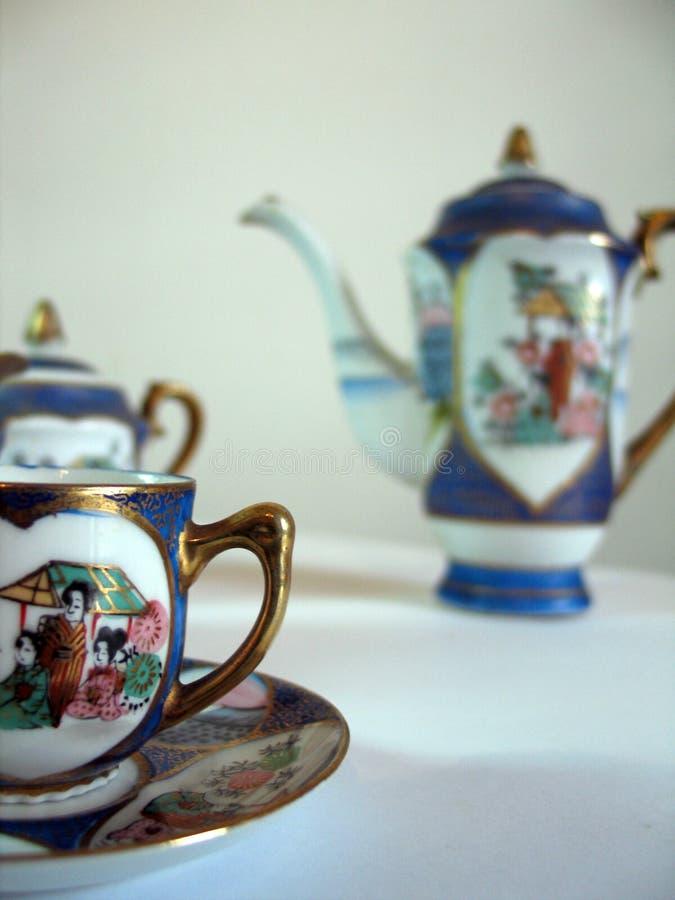 чай фарфора установленный стоковая фотография